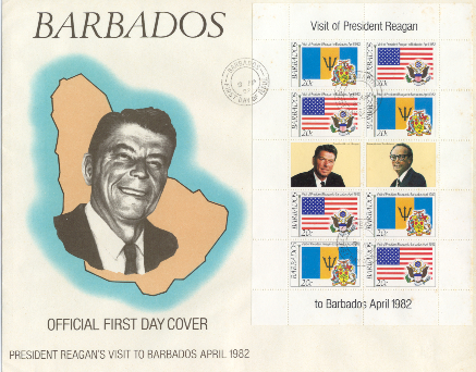 Barbados #1 FDC 20 cent