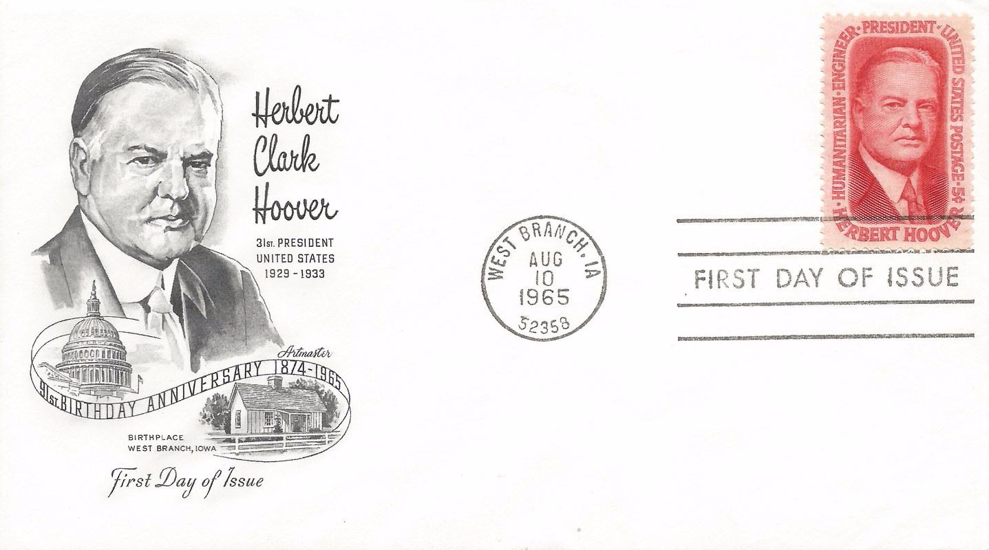 Hoover Memorial Cover  #1a