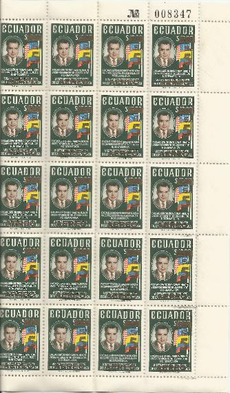 Ecuador Overprint Sheet