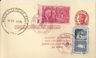 11-25-63 Day of Burial postcard