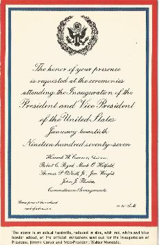 Inaugural Invitation Postcard