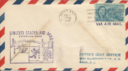 47-08-01 US Air Mail Extension