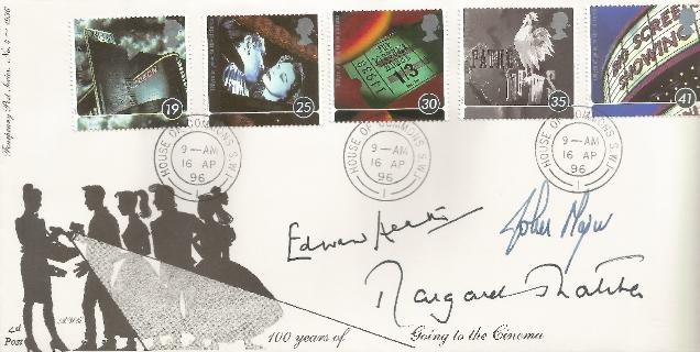 96 100 Years of Cinema Signed by Prime Ministers