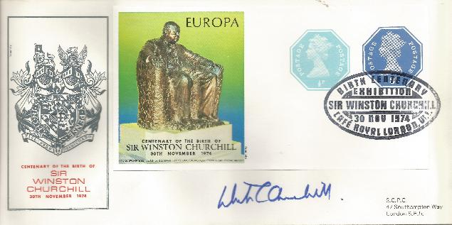 74 Churchill Centenary signed by grandson