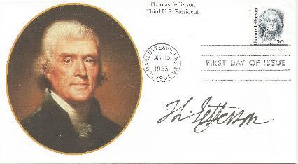 TJ 93-04-13 Jefferson Birthday FDC