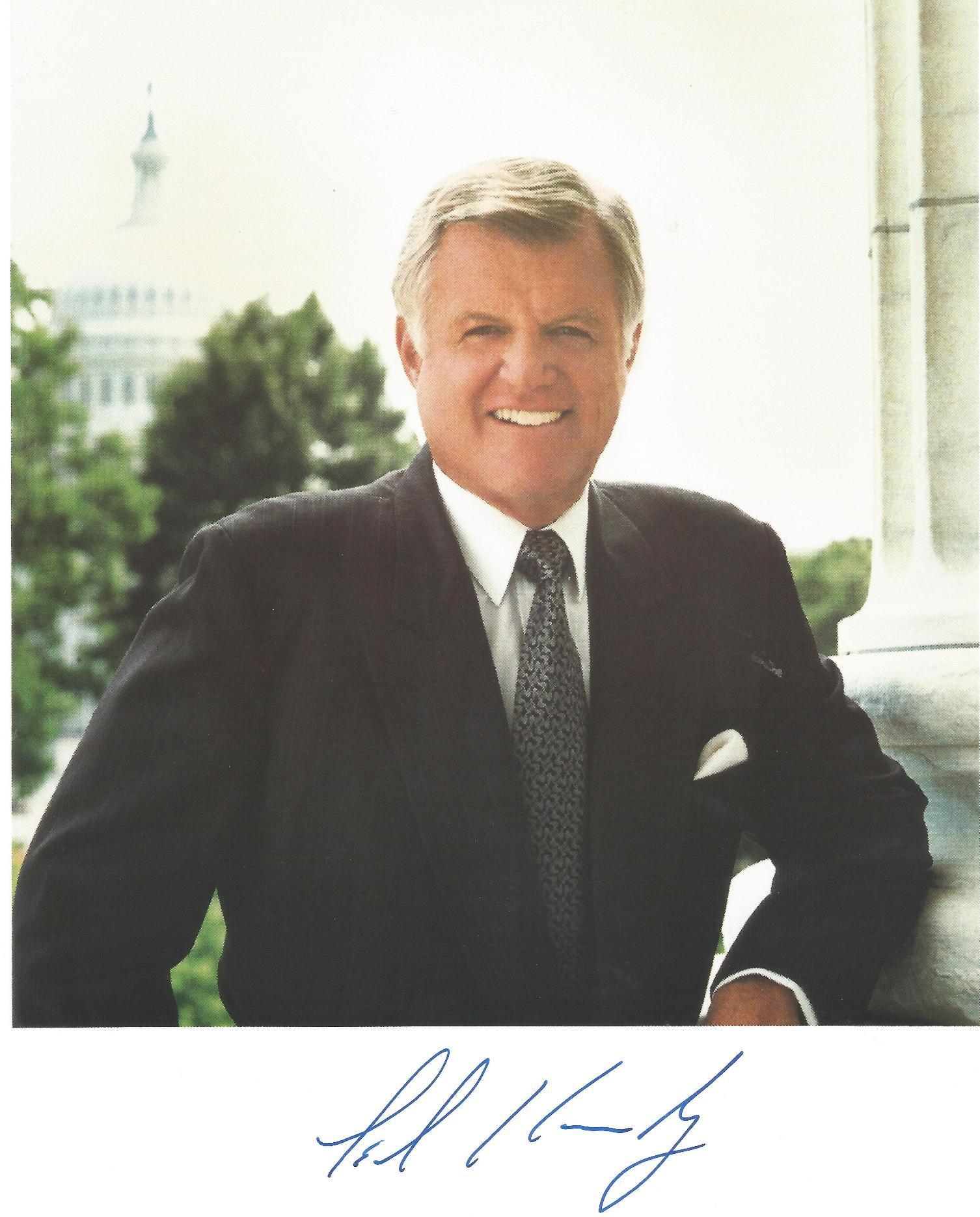 Edward Kennedy signed photo