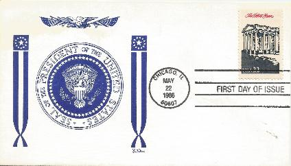 86-05-22 Ameripex White House FDC