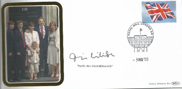 2005 General Election signed by David Millband