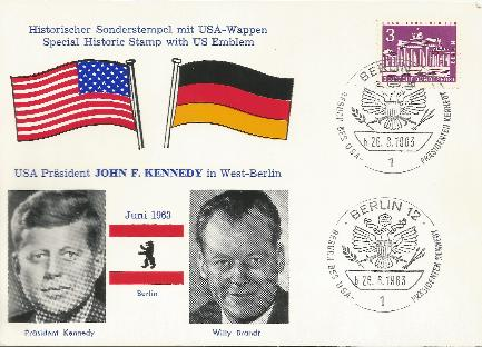 Germany JFK Visit 6-26-63 Berlin cancel