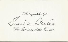 Fred Seaton - Interior Secretary 2
