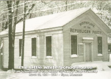 Ripon Schoolhouse B&W postcard