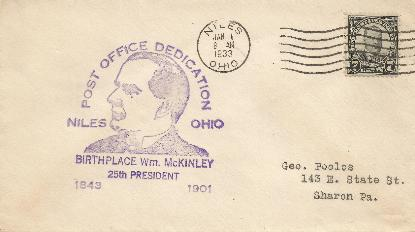 McKinley 33-01-01 Special Event Cover #1