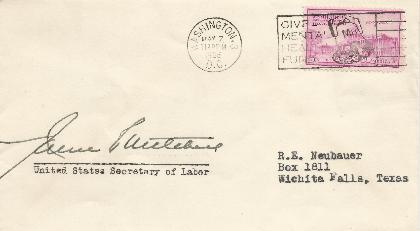 James Mitchell - Labor Secretary 1