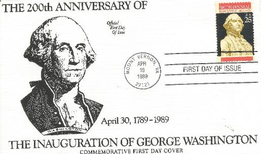 200th Anniv of Washington Inauguration
