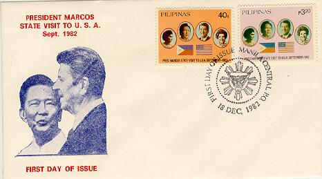 Philippines Marcos Visit FDC #1