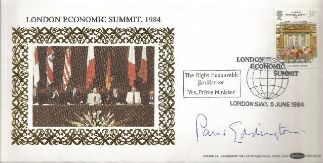 Paul Eddington Signed 1984 Economic Summit