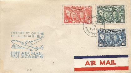 Philippines First Airmail FDC
