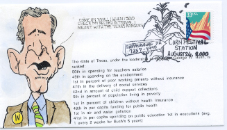 Texas Record cartoon