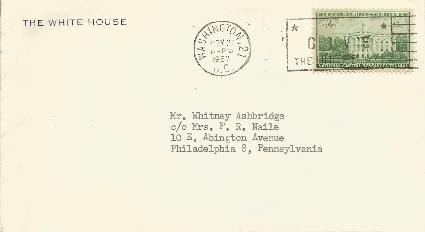 White House Corner Card 1957