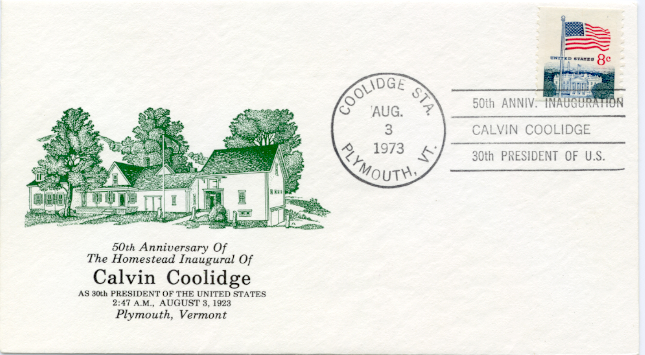 Coolidge Inauguration 50th Anniver 73-08-03