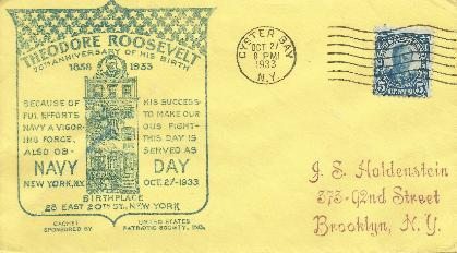 T Roosevelt 33-10-27 Special Event Cover # 4