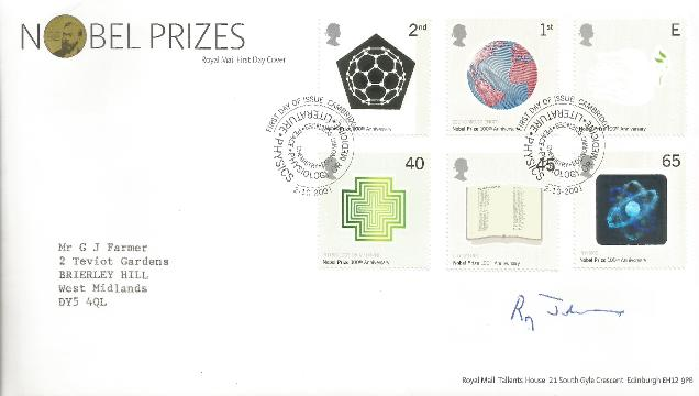2001 Nobel Prizes Signed by Roy Jenkins
