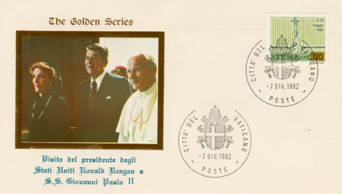 Vatican City Reagan visits Pope