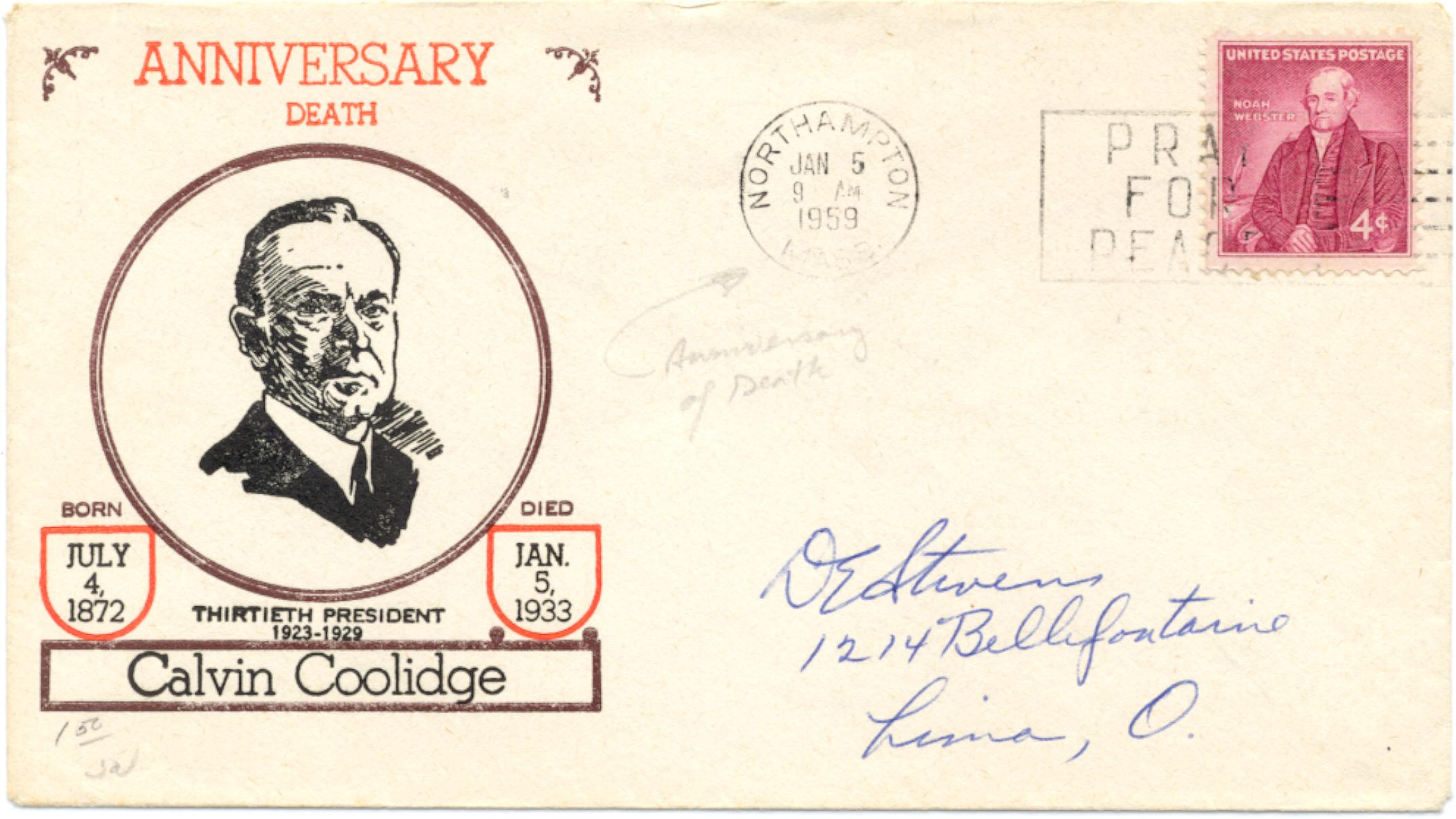 Coolidge Death Anniversary 59-01-05