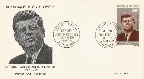 Ivory Coast JFK Memorial 11-14-64 FDC