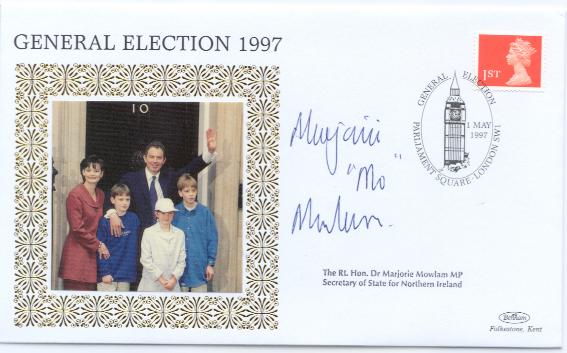 1997 General Election Day Marjorie Mowlam signed