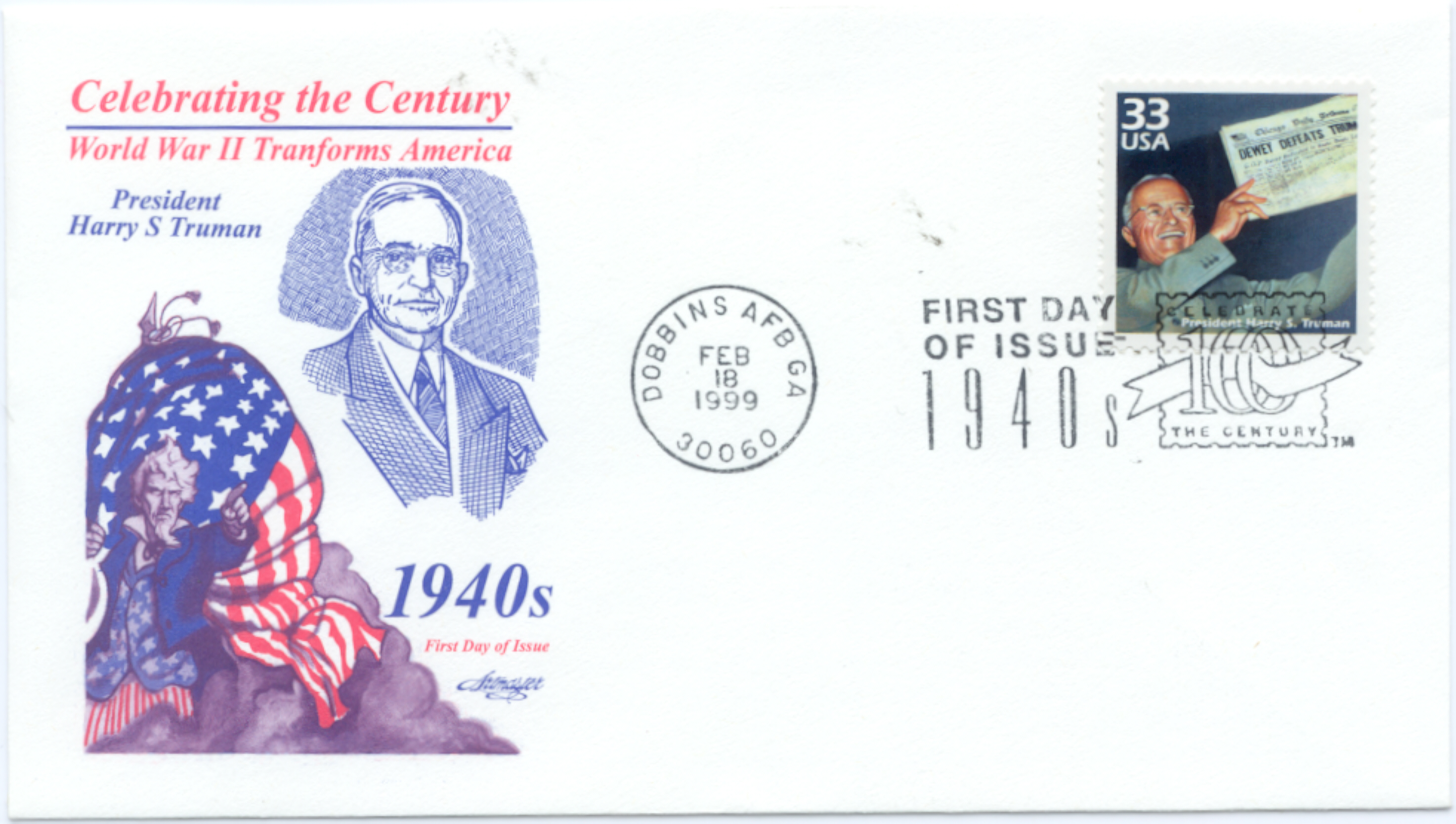 HST Celebrate the Century FDC #3