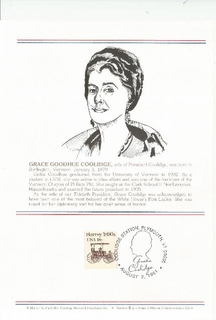 Grace Coolidge info card
