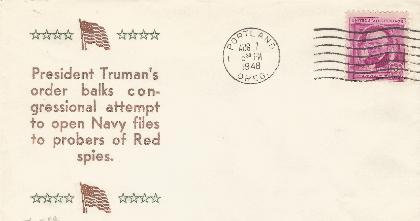 """Truman's order Balks..."""