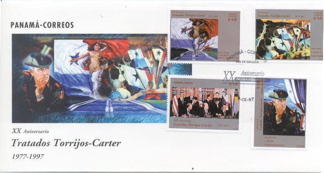 Panama Canal Singing Stamps FDC