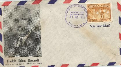 Panama FDR Mmeorial FDC #1