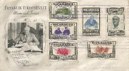 Nicaragua FDR Memorial FDC