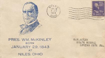 McKinley 39-01-29 Special Event Cover #6