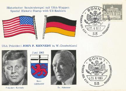 Germany JFK Visit Bonn Cancel 6-23-63