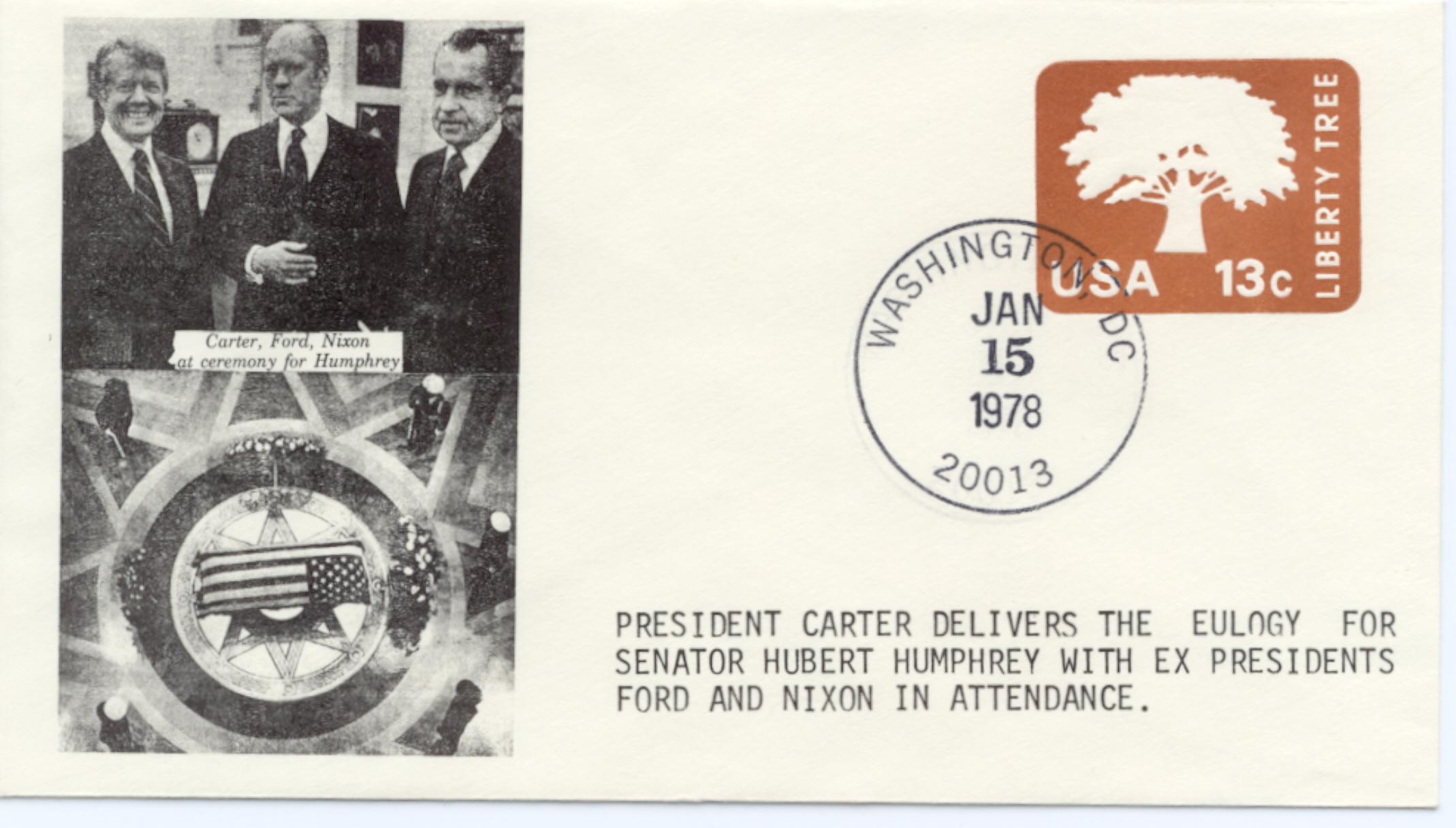 Carter Eulogises Humphrey