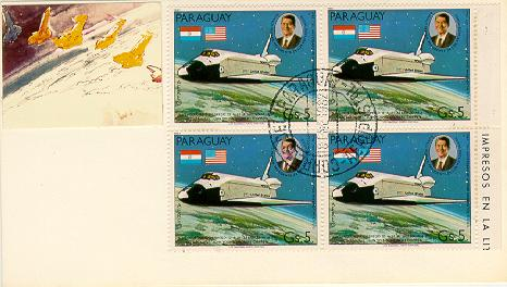 Paraguay Space FDC #1