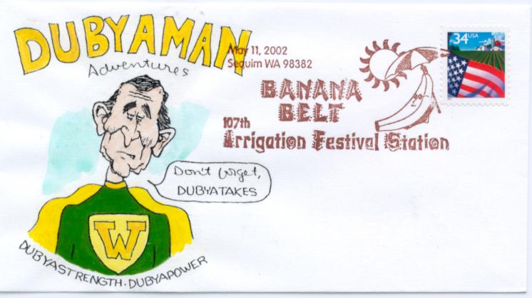 Dubyaman #1 Cartoon