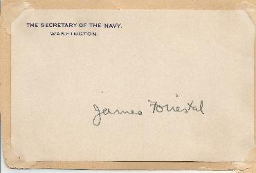 James Forrestal - Defense Secretary