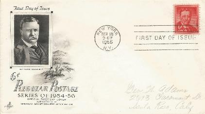 T Roosevet 6cent FDC #4