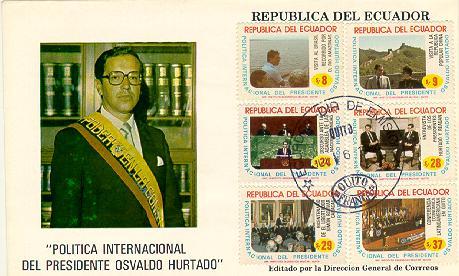 Ecuador FDC #1