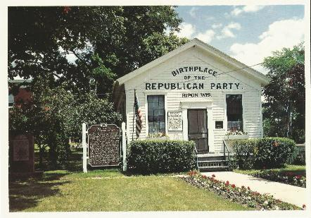 Ripon Schoolhouse color postcard