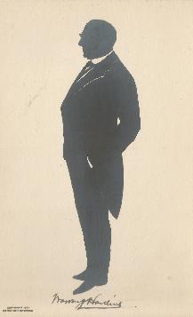 Harding silhouette Postcard