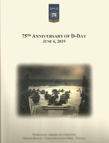 75th Anniv D-Day Official Program in Normandy