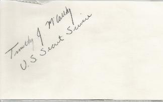 Tim McCarthy - Secret Service Agent Shot