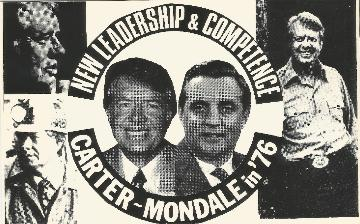 Carter Mondale Button Postcard