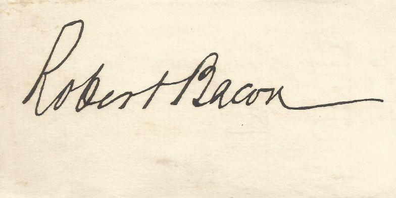 Roger Bacon, Secretary of State (Roosevelt, Taft)